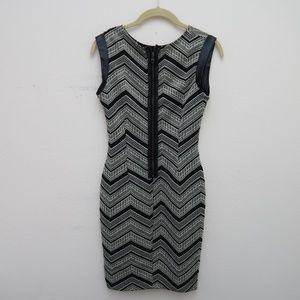 Bar III Women's Sleeveless 1/2 Zip Bodycon Dress